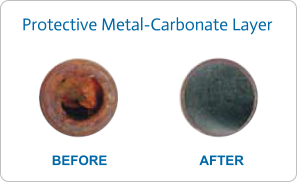 protective metal carbonate layer water